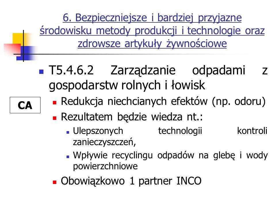 T5.4.6.2 Zarządzanie odpadami z gospodarstw rolnych i łowisk