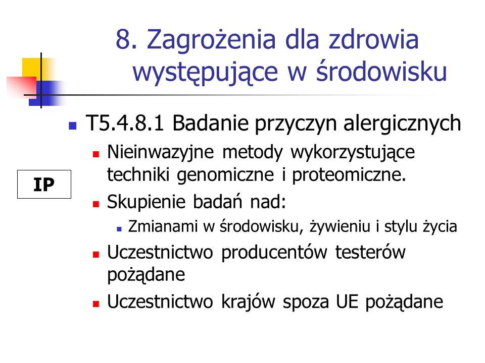 8. Zagrożenia dla zdrowia występujące w środowisku