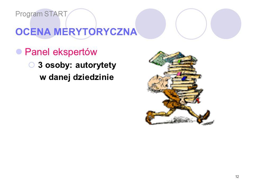 Program START OCENA MERYTORYCZNA