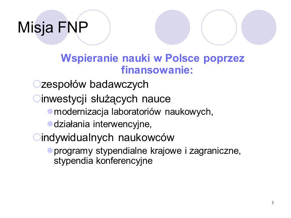Wspieranie nauki w Polsce poprzez finansowanie: