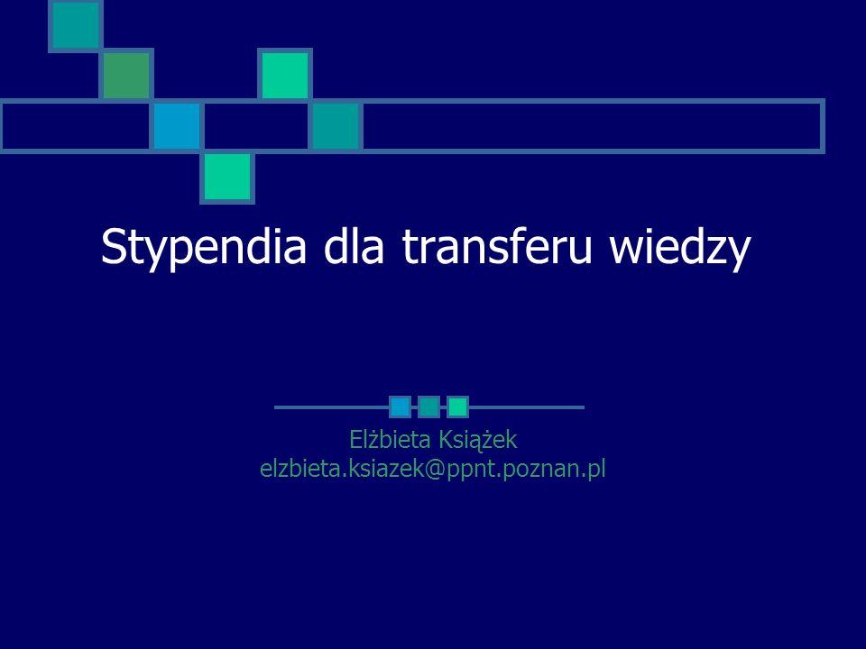 Stypendia dla transferu wiedzy