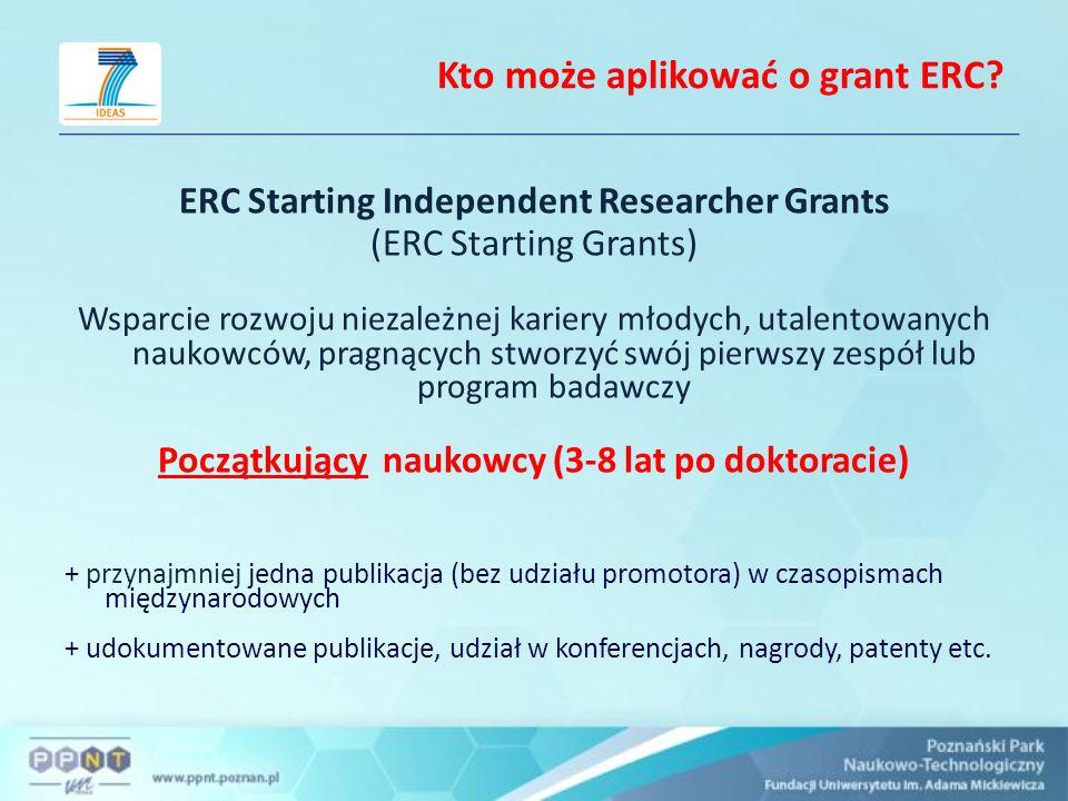 Kto może aplikować o grant ERC