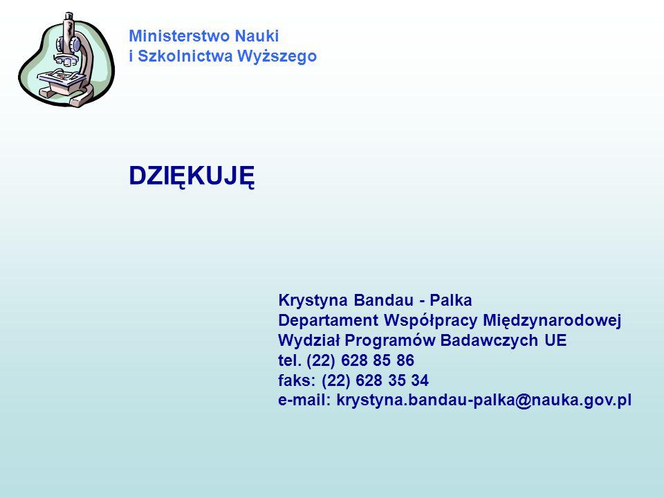 DZIĘKUJĘ Krystyna Bandau - Palka
