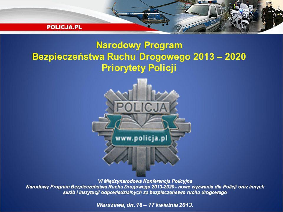 Bezpieczeństwa Ruchu Drogowego 2013 – 2020 Priorytety Policji