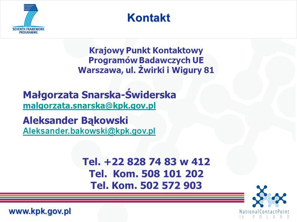 Kontakt Małgorzata Snarska-Świderska Aleksander Bąkowski