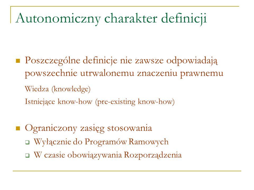 Autonomiczny charakter definicji