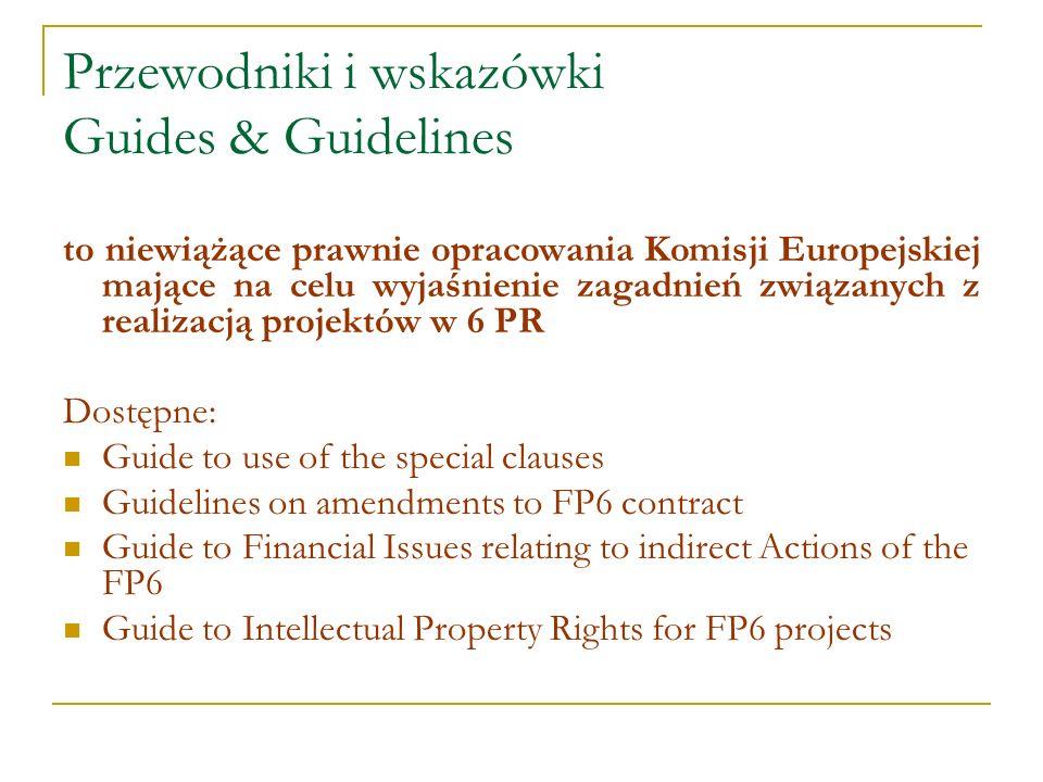 Przewodniki i wskazówki Guides & Guidelines