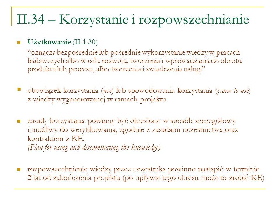 II.34 – Korzystanie i rozpowszechnianie
