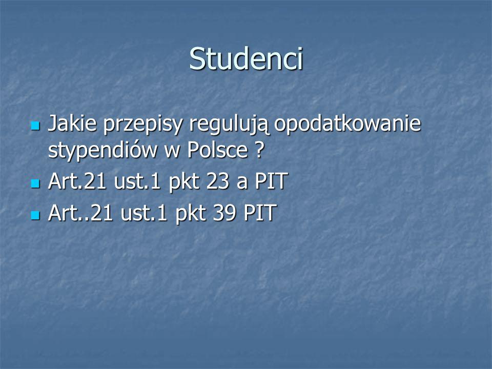 Studenci Jakie przepisy regulują opodatkowanie stypendiów w Polsce