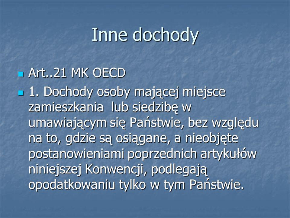 Inne dochody Art..21 MK OECD