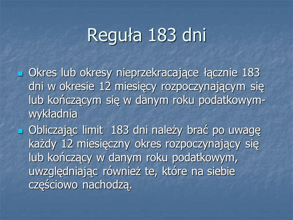 Reguła 183 dni