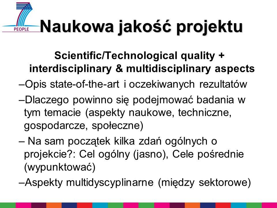 Naukowa jakość projektu