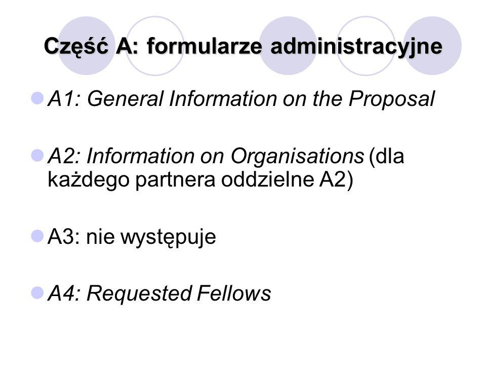 Część A: formularze administracyjne