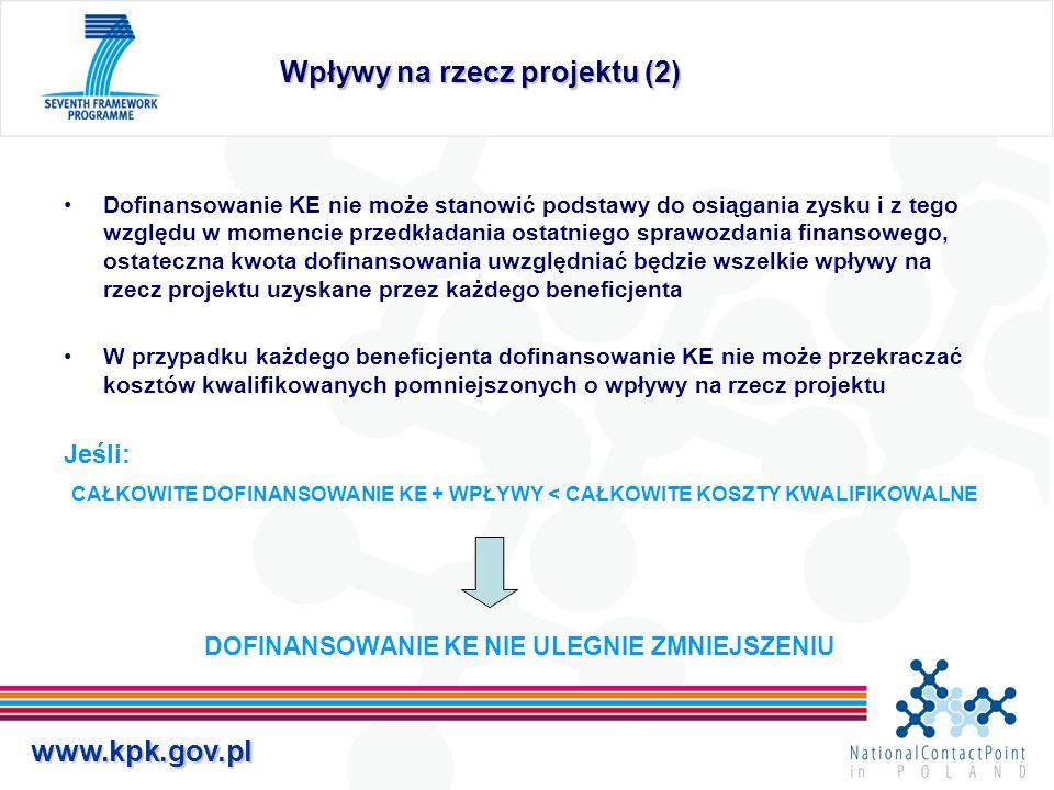Wpływy na rzecz projektu (2)