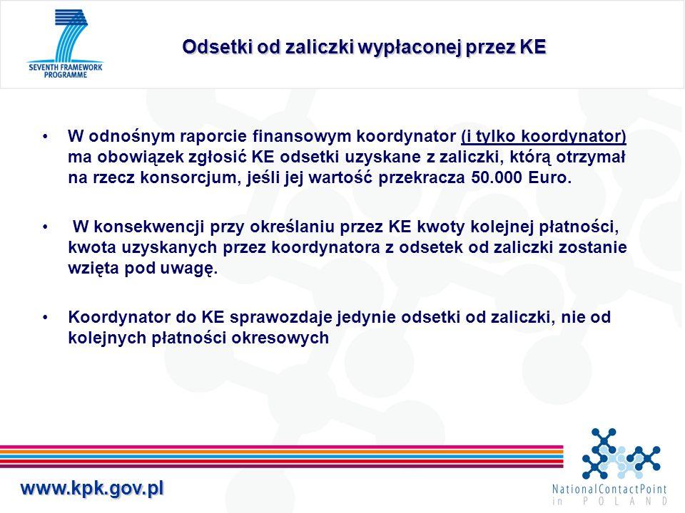 Odsetki od zaliczki wypłaconej przez KE