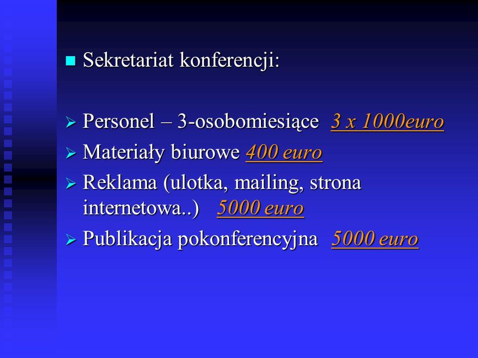 Sekretariat konferencji: