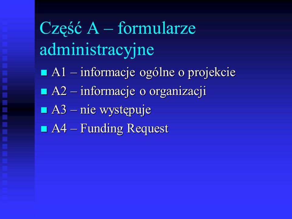 Część A – formularze administracyjne