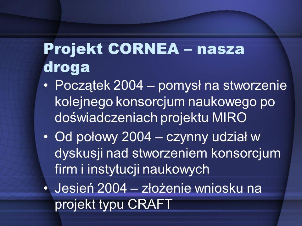 Projekt CORNEA – nasza droga