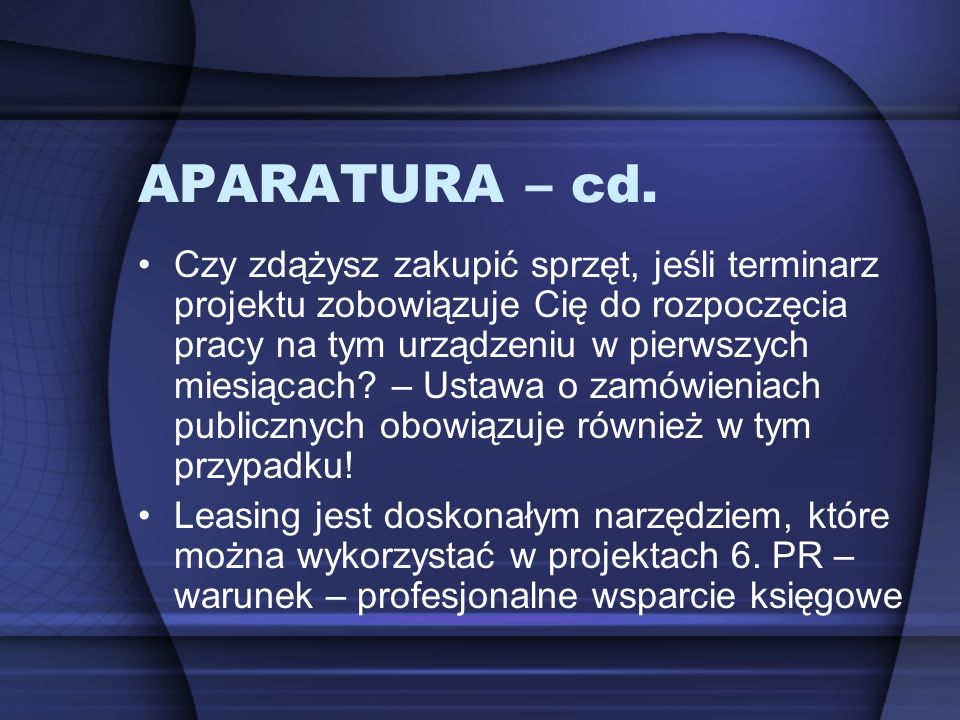 APARATURA – cd.
