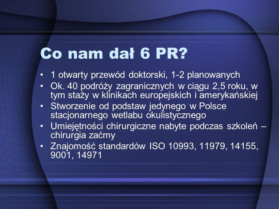 Co nam dał 6 PR 1 otwarty przewód doktorski, 1-2 planowanych