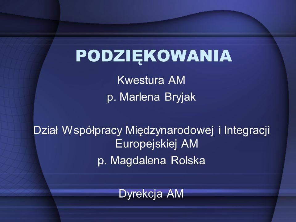 Dział Współpracy Międzynarodowej i Integracji Europejskiej AM