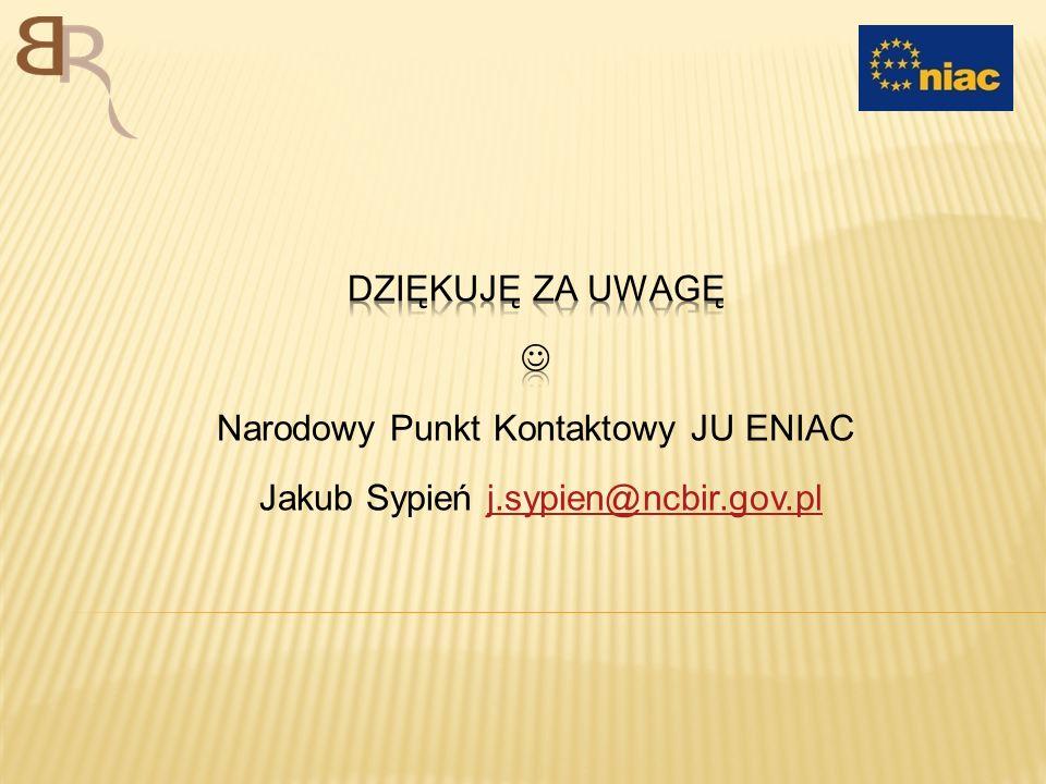 Narodowy Punkt Kontaktowy JU ENIAC Jakub Sypień j.sypien@ncbir.gov.pl