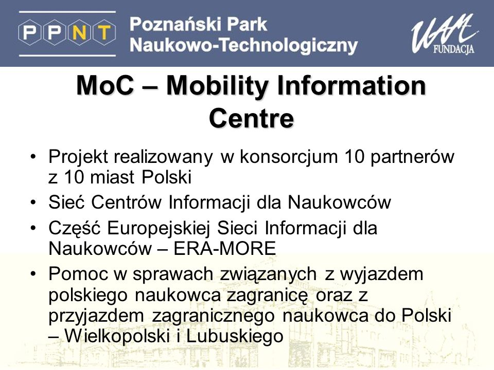 MoC – Mobility Information Centre