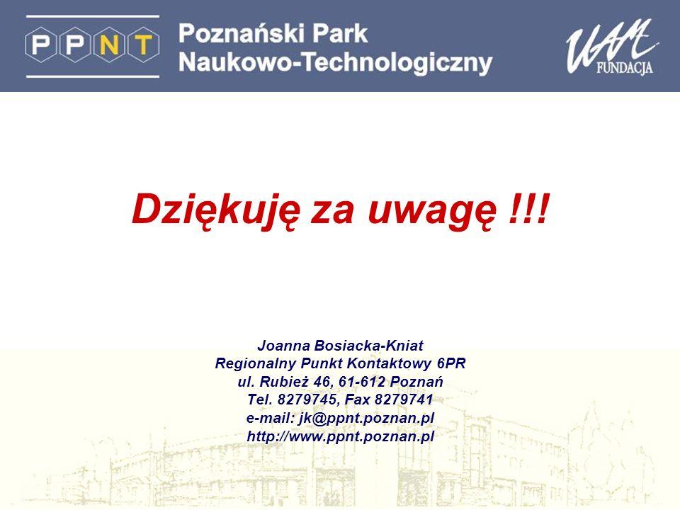 Dziękuję za uwagę !!! Joanna Bosiacka-Kniat