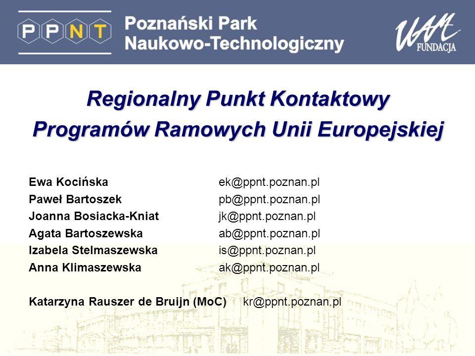 Regionalny Punkt Kontaktowy Programów Ramowych Unii Europejskiej