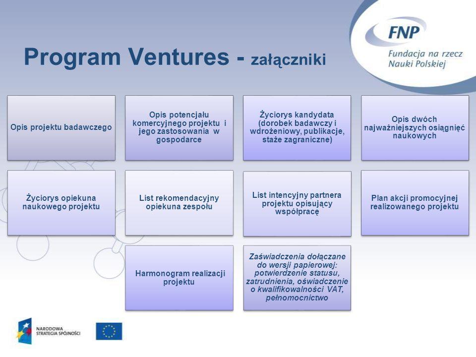 Program Ventures - załączniki