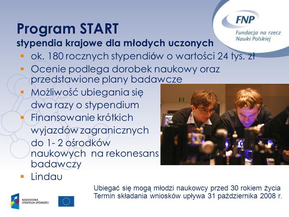 Program START stypendia krajowe dla młodych uczonych