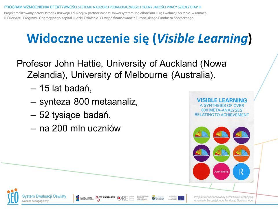 Widoczne uczenie się (Visible Learning)