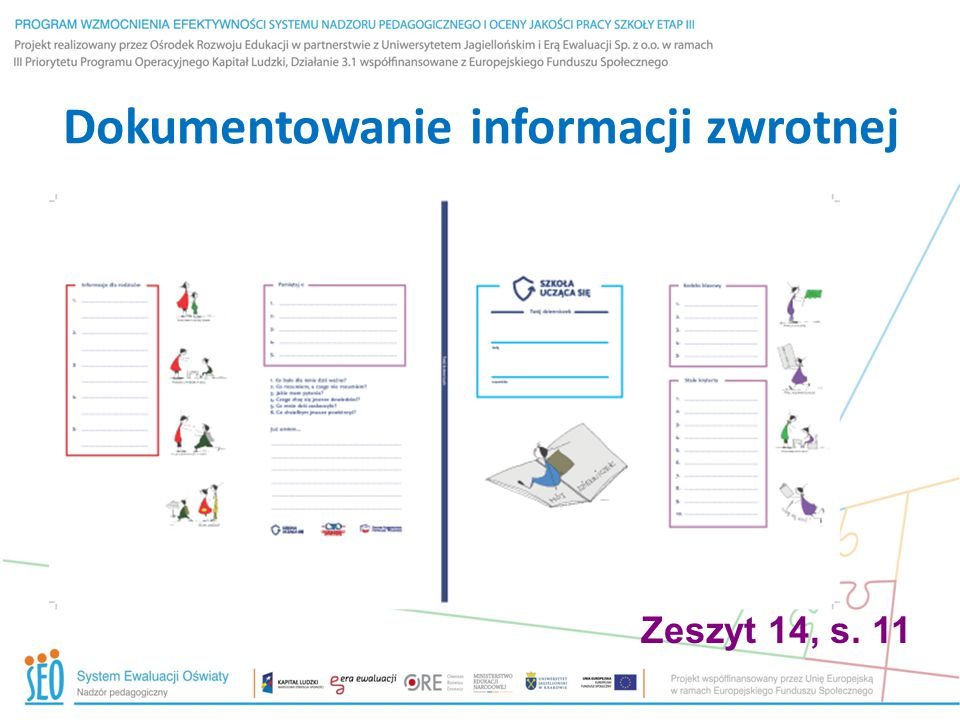 Dokumentowanie informacji zwrotnej