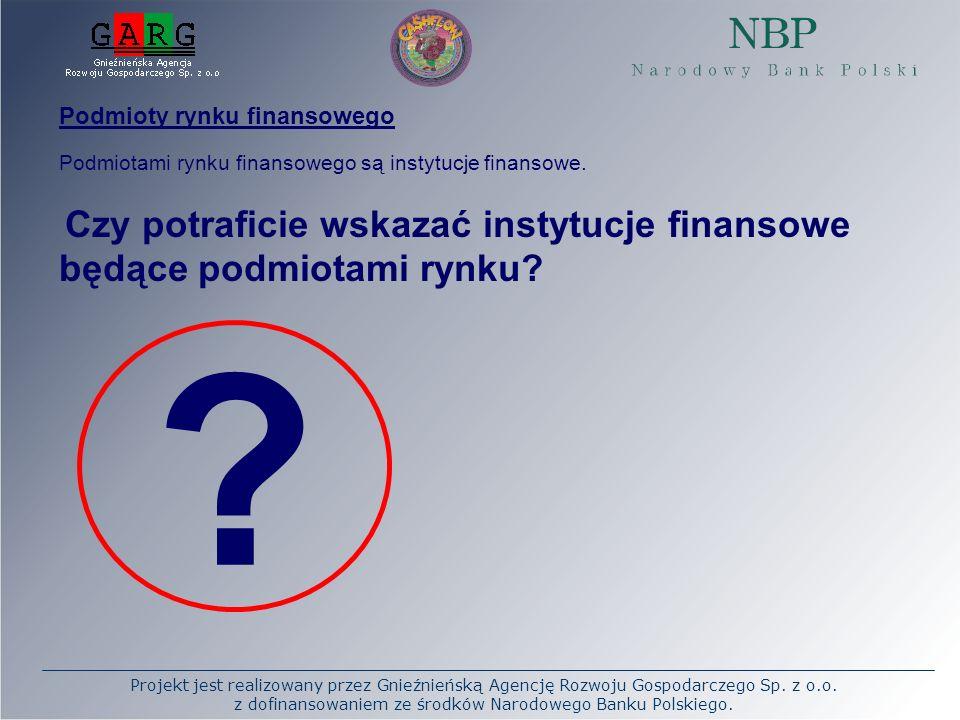 Podmioty rynku finansowego