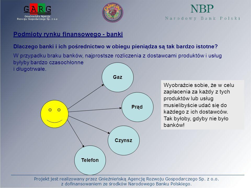 Podmioty rynku finansowego - banki