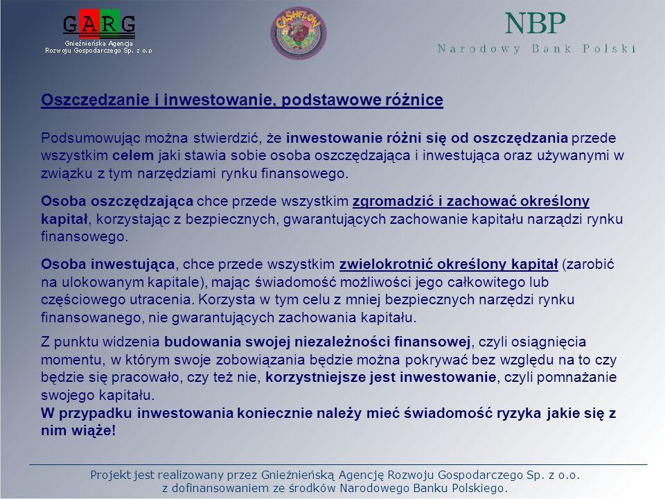 Oszczędzanie i inwestowanie, podstawowe różnice