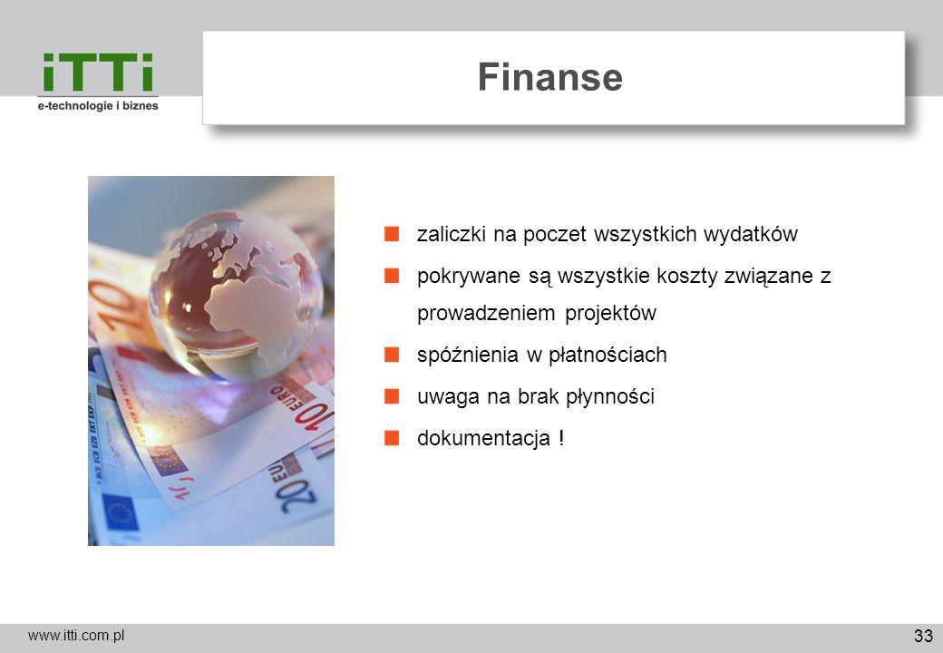 Finanse zaliczki na poczet wszystkich wydatków