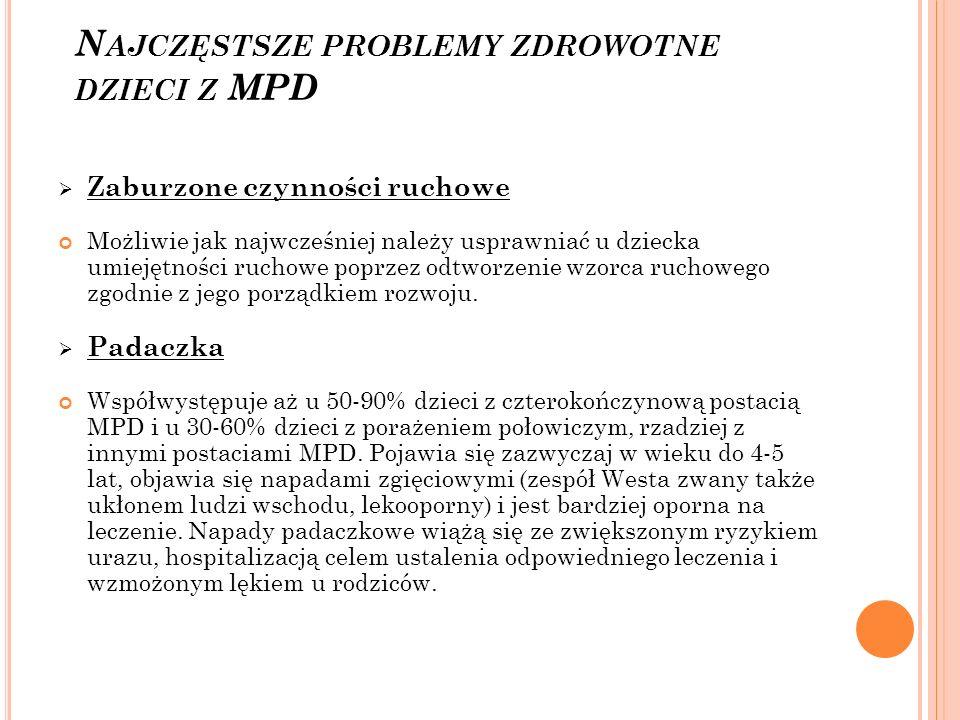 Najczęstsze problemy zdrowotne dzieci z MPD