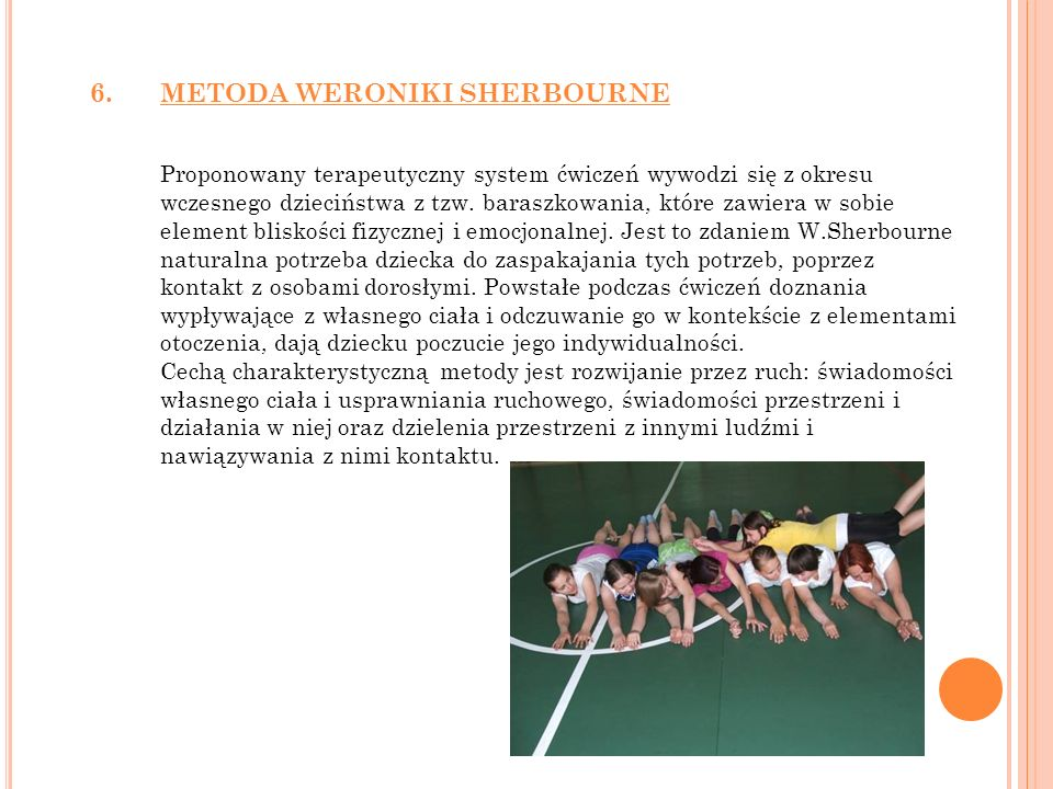 6. METODA WERONIKI SHERBOURNE