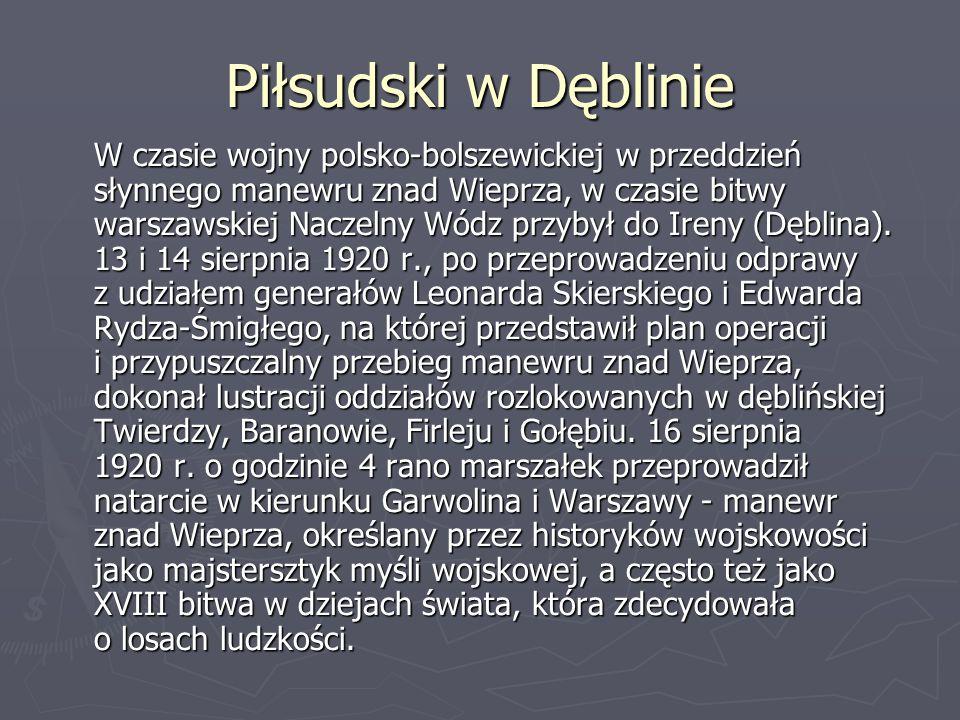 Piłsudski w Dęblinie