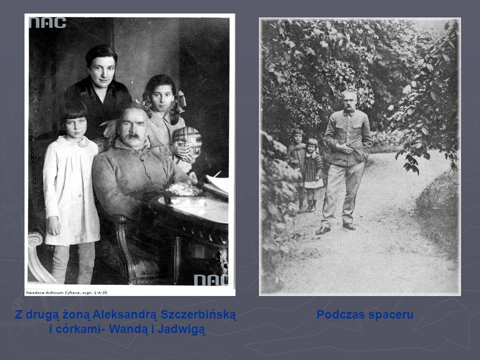 Z drugą żoną Aleksandrą Szczerbińską i córkami- Wandą i Jadwigą