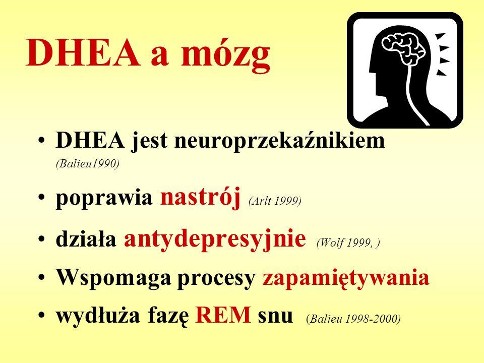 DHEA a mózg DHEA jest neuroprzekaźnikiem (Balieu1990)