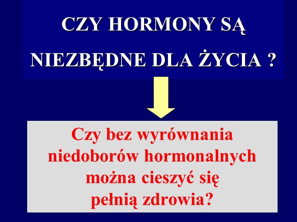 CZY HORMONY SĄ NIEZBĘDNE DLA ŻYCIA