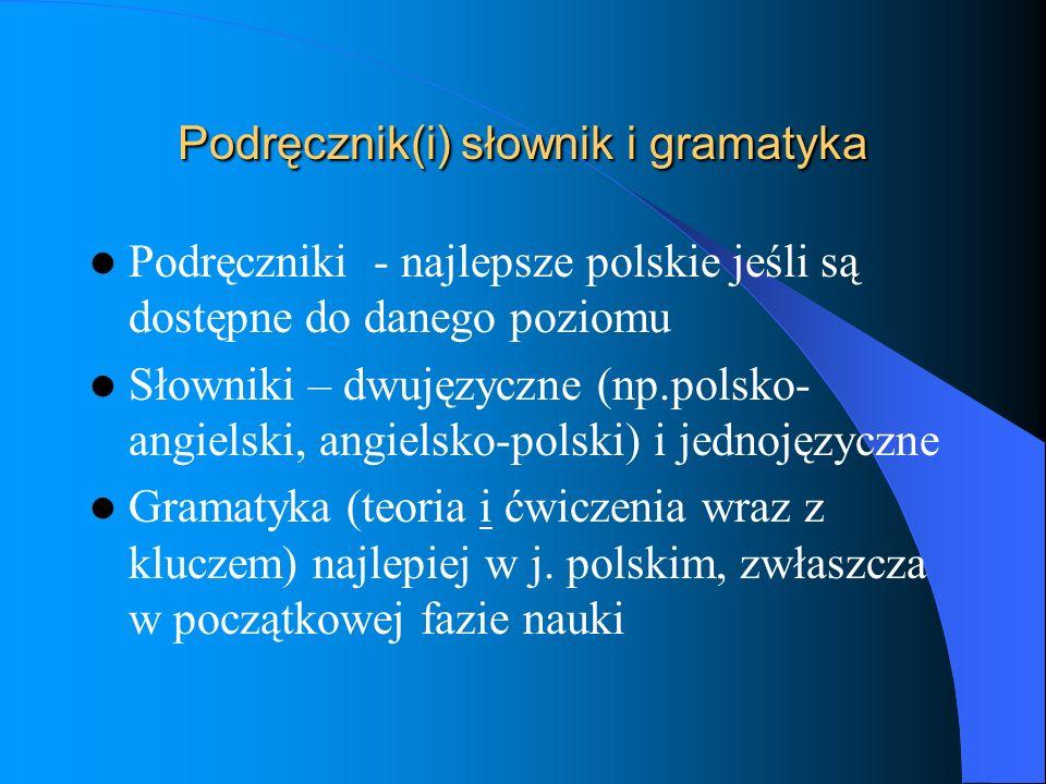 Podręcznik(i) słownik i gramatyka