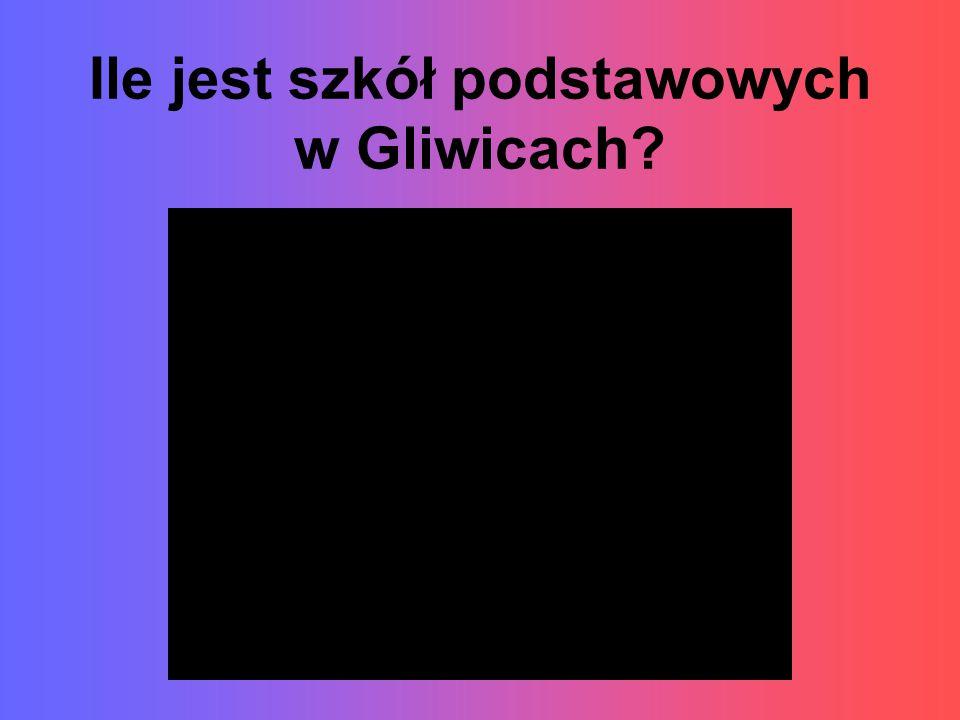 Ile jest szkół podstawowych w Gliwicach