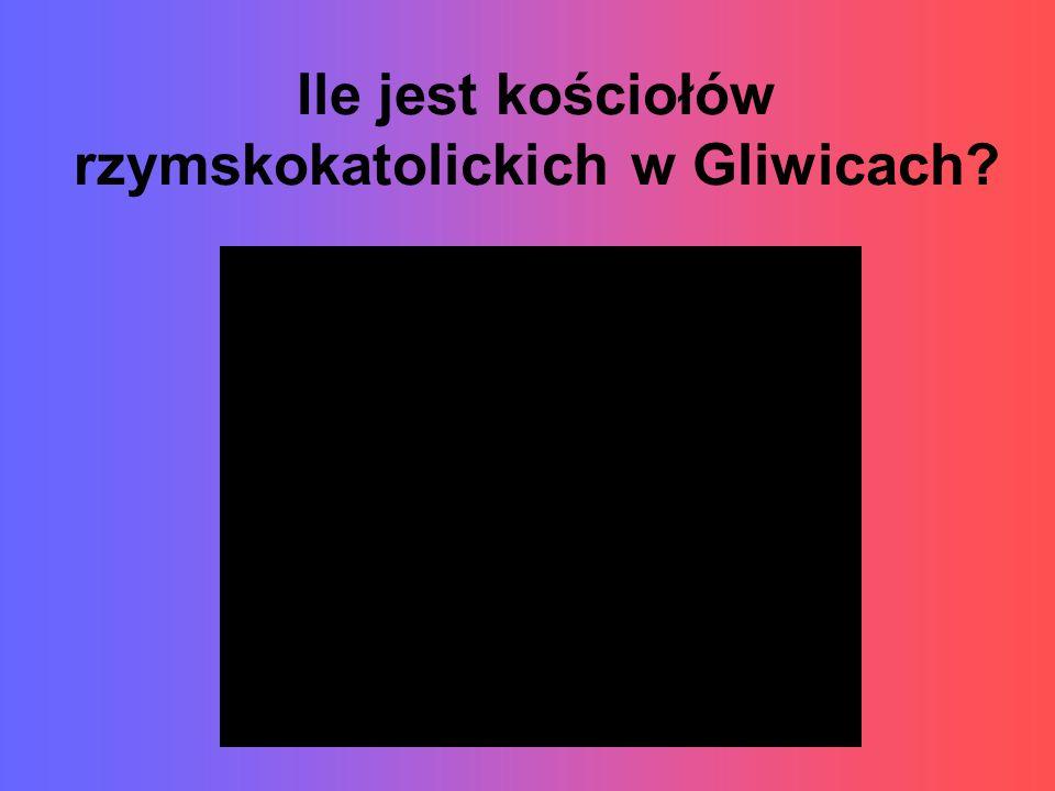 Ile jest kościołów rzymskokatolickich w Gliwicach