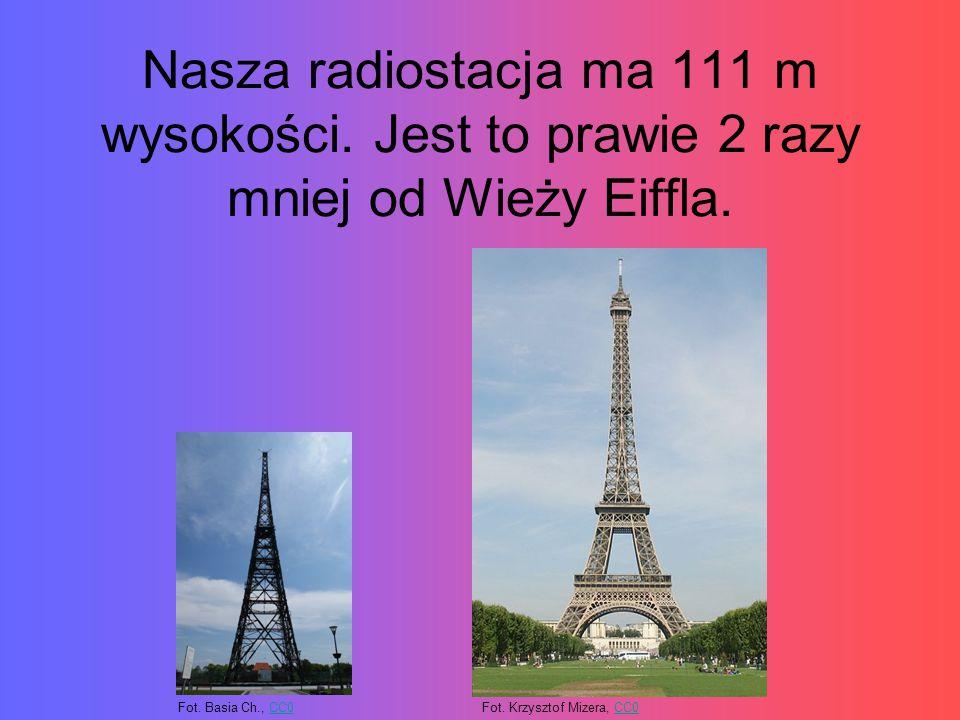 Nasza radiostacja ma 111 m wysokości