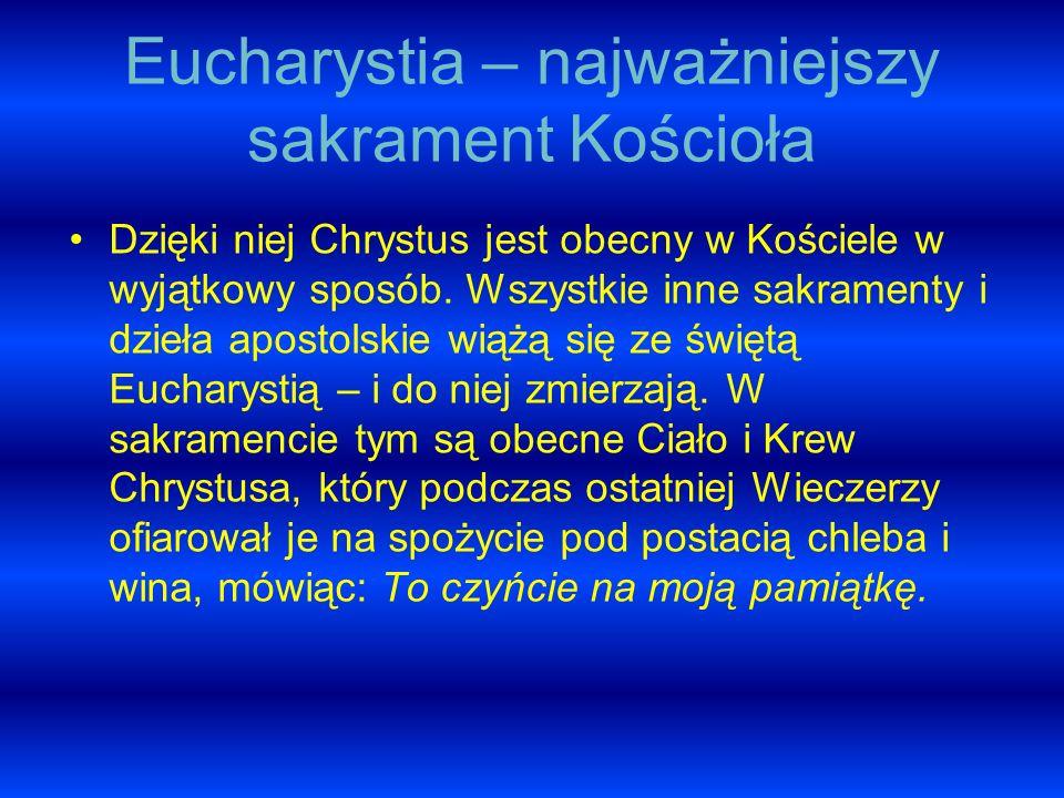 Eucharystia – najważniejszy sakrament Kościoła