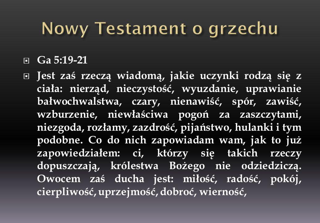 Nowy Testament o grzechu