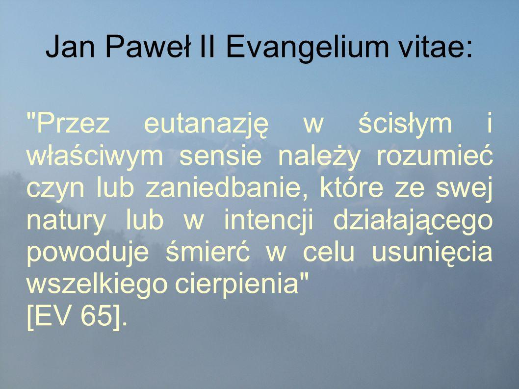 Jan Paweł II Evangelium vitae: